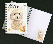 Cockapoo (Cream) Dog Notebook/Notepad + small image on every page by Starprint