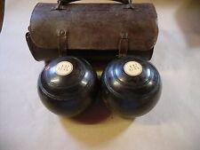 Vintage Pair of Lawn /Crown Green bowls