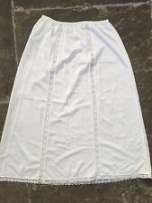 Vintage St Michael white Marks Spencer M&S under slip skirt burlesque XS S 34