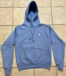 Champion Reverse Weave Pullover Icon Hoodie, Small, Periwinkle Blue, New NWT