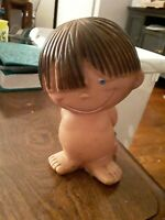 Vintage Boy Smile Squeeze Toy Rare Rubber 5.5 inches tall made in taiwan