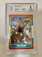 1986 Fleer Karl Malone Rookie Card BGS 8 W/ Two 9 Subgrades