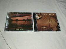 LOT of PETER PRINCE Whispering Rain+Light Dance CD's New Age Guitar Ambient