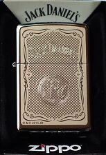Zippo Lighter Jack Daniels no. 60000700 Spring 2015 Chrome high polished, New