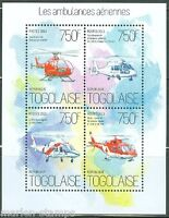 TOGO 2013  HELICOPTER  AMBULANCES  RED CROSS  SHEET MINT NH