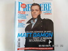 PREMIERE N°344 OCTOBRE 2005 MATT DAMON GILLIAM POLANSKI DAVID LACHAPELLE  F25