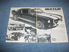 """1966 Shelby GT350 Fastback Vintage Street Machine Article """"Draculow"""" Mustang"""