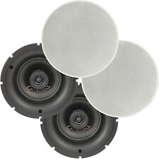 """4 Pack - 5.25"""" 8 OHM Low Profile Ceiling Speakers - 2 Way Wall Mount Slim Line"""
