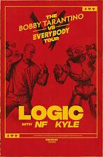LOGIC The Bobby Tarantino Vs Everybody Tour 2018 Ltd Ed RARE Poster! NF KYLE Rap