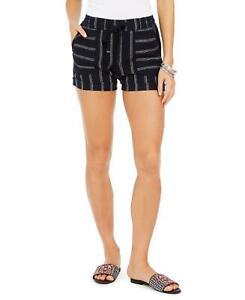 NWT Style & Co Petite Striped Linen Blend Shorts. 100089588P