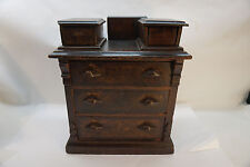 ANTIQUE CHILDS DRESSER DOLL MINIATURE EASTLAKE VICTORIAN WOOD TOY CHEST DRAWERS