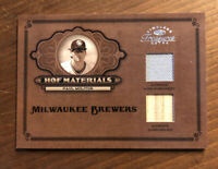 2004 Timeless Treasures PAUL MOLITOR GAME USED BAT And Patch BREWERS /50