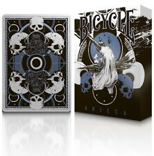 Anicca Bicycle Metallic ink BLUE Playing Cards by Card Experiment Aristocrat