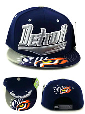 Detroit New Leader Tiger Eye City Flash Tigers Blue Gray Era Snapback Hat Cap
