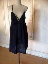 Galliano Empire-Waist Cotton Dress Sz 10