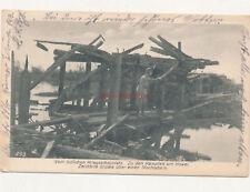 Foto, Ak, Wk1, zerstörte Brücke in Kowel, 1917 (N)19999