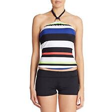 Lauren Ralph Lauren Striped Halter Tankini Top Multi Size 4