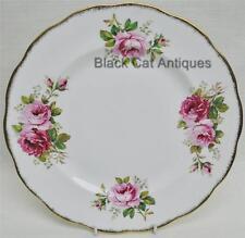 "Lovely Pink Roses Royal Albert American Beauty 10.25"" Dinner Plate England"