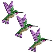 Iron On Embroidery Applique Patch Sew Iron Badge Hummingbird Branch