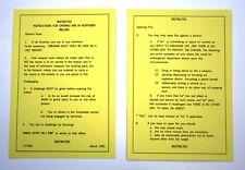 Operation Banner, Northern Ireland Un-laminated Yellow Card