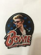 More details for official licensed - david bowie - stars glitter embroidered woven patch ziggy