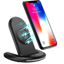 NEW iPhone 8 Plus / X / Note 8 S8+ Qi Wireless Fast Charger Rapid Charging Stand