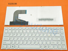White US Laptop Keyboard for Sony VPC-S VPCS S111FM VPCS111FM With Frame