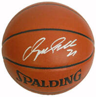 Hawks DOMINIQUE WILKINS Signed Spalding Indoor/Outdoor Basketball - SCHWARTZ