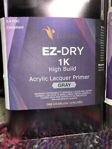 Lumena Acrylic Dura High Build Lacquer 1K Lacquer Gallon Gray or Black