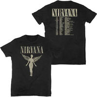 NIRVANA T-Shirt In Utero BLACK Tour 1993 w/ Dates Authentic New S-2XL