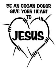 Give To Jesus -  Window sticker Car RV Hunting Spiritual Outdoor Vinyl Decal