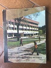 Syracuse University Directory 1971-1972 Student Faculty Names & Addresses Book