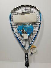 "New Head Liquidmetal Blast Racquetball Racquet 3 & 5/8"" Grip Penn Rocky Carson"