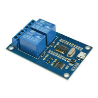 MICRO USB 5V 2-Channel Relay Module USB Control Relay Module serial port