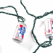 Pabst Blue Ribbon Beer Can String Lights White
