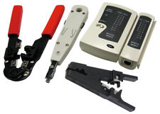 LogiLink WZ0012 Netzwerk Werkzeugset Kabeltester Auflegewerkzeug Crimpzange