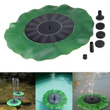 Floating Bird Bath Solar Power Fountain Garden Water Panel Pump Kit Pool Pond