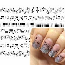 Cute Accessories Art Transfer Nail Sticker Piano Keys Musical Notes Decals