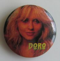 DORO VINTAGE METAL BUTTON BADGE FROM THE 1980's HEAVY METAL WARLOCK