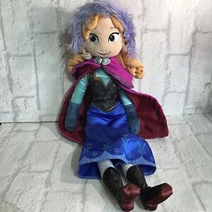 "Disney Frozen Anna - 19"" Large Disney Store Princess Rag Doll Soft Plush Toy"