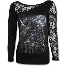 Spiral Dark Unicorn Girls Longsleeve Black XL