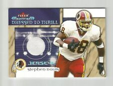 2002 FLEER MAXIMUM DRESSED TO THRILL STEPHEN DAVIS GAME-USED JERSEY #6 REDSKINS