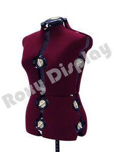 Adjustable Sewing Dress Form Female Mannequin Torso Stand Medium Size #JF-FH-8