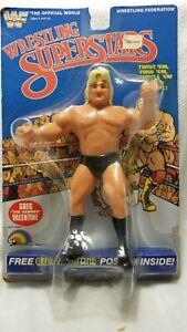 "WWF LJN Wrestling Superstars Greg ""The Hammer"" Valentine - MOC - Encased"