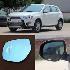 Rearview Mirror Blue Glasses LED Turn Signal Power Heating For Mitsubish ASX