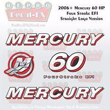 2006+ Mercury 60HP STR Decal EFI FourStroke Outboard Repro 5Pc Straight Logo Ver