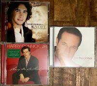 HARRY Connick JR FOR HOLIDAYS & Josh GROBAN NOEL Christmas JIM Brickman PEACE CD