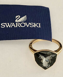 Authentic Swarovski Crystal BRIEF Rose-Gold Ring 5098371 Size 6 Retired $100 NEW