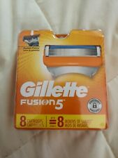 GILLETTE FUSION 5 REFILL RAZOR BLADES, 8 Cartridges, Brand New #018