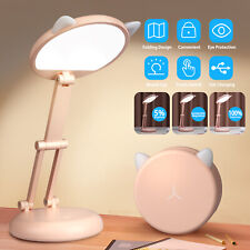 30 LED Dimmable Desk Lamp Table Reading Foldable Light Touch Sensor Rechargeable